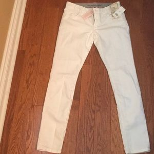 Banana Republic white skinny jeans